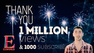 1 Million views & 1000 subscribers Happy New Year from E11World