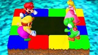 Mario Party 10 - Minigames - Mario vs Wario vs Peach vs Yoshi (Master CPU)