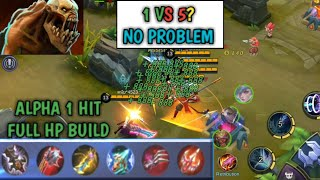 1 HIT FULL HP BUILD | HIGHEST LIFESTEAL IN MOBILE LEGENDS | 1vs5? NO PROBLEM