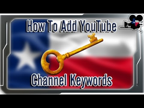 How To Add YouTube Channel Keywords