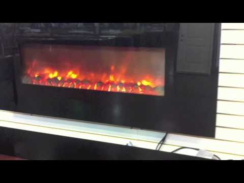Wall hanging electric fireplace at seconds and surplus for Fireplace material options