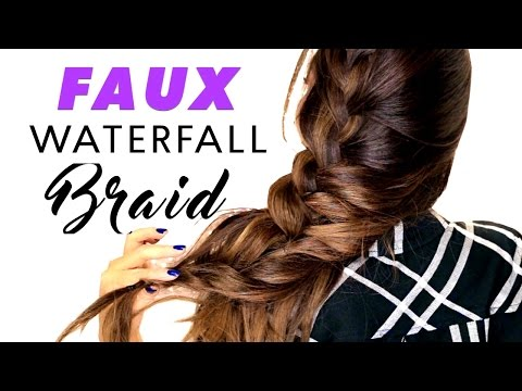 Summer Faux Waterfall Braid Hairstyles