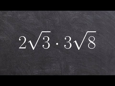 How to Multiply Radicals by Simplifying First