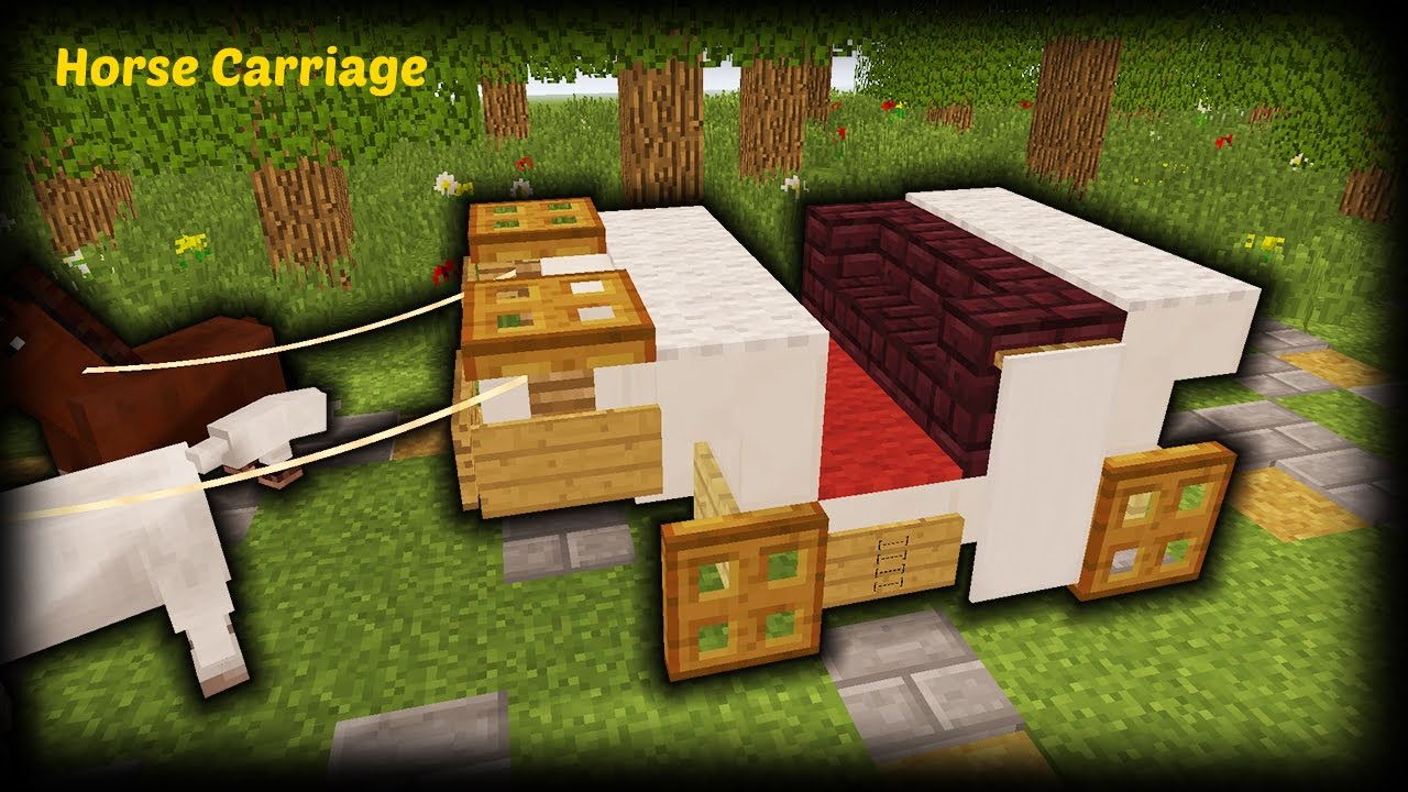 Minecraft  How To Make A Horse Carriage
