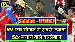 जाने IPL के हर सीजन (2008-19) में किस खिलाडी के पास रहा है सबसे ज्यादा छक्के लगाने का अनोखा रिकॉर्ड