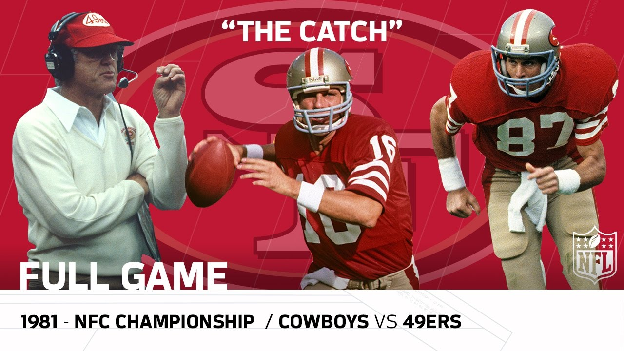 """The Catch"" Cowboys vs. 49ers 1981 NFC Championship   NFL ..."