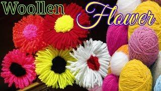 Woolen Flower Latest and Easy Design Craft Idea LifeStyle Designs