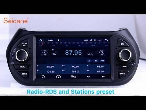 2007-2013 FIAT Fiorino Radio GPS Sat Nav Stereo Upgrade Support 3G 4G WIFI