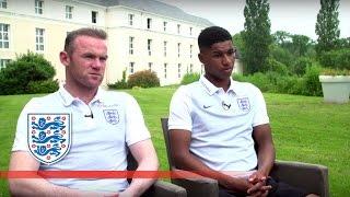 EXCLUSIVE: England & Man Utd pair Rooney & Rashford on Euro 2016 | FATV News