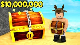 ROBLOX TREASURE HUNT SIMULATOR! ($10,000,000 FOUND IN TREASURE CHEST!)
