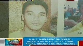 BP: 21 inmate ng Valencia City Jail sa Bukidnon, pumuga; 8 sa kanila, balik-kulungan na