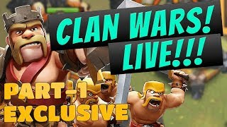 Live war attacks | clash of clans | Part-1 | GaminG WitH RoY