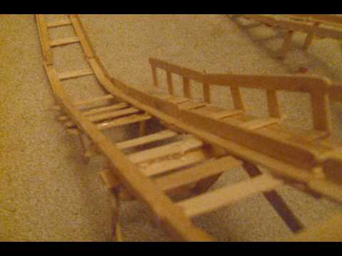 Cosmic Treasure: Popsicle Stick Roller Coaster ~Update #1