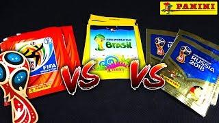 2vs2 TRIPLE UNBOXING BATTLE! 😱🔥 Panini WM 2018 vs WM 2014 vs WM 2010