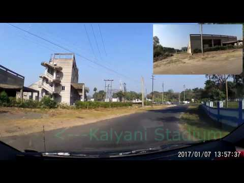 Kalyani :- From A-Block To B-Block via A-B Connector Road. (1080p60fps)