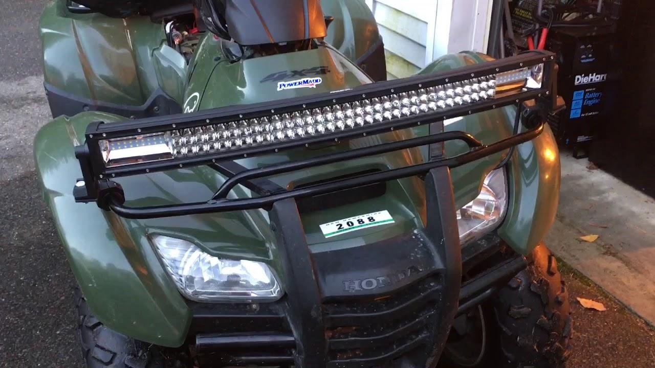 Installing Led Light Bar On Atv - Honda Rancher 420