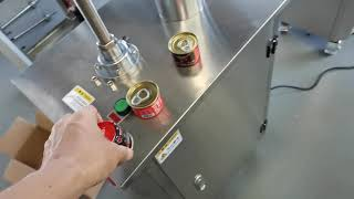 반자동 캔 씰링 기계,…
