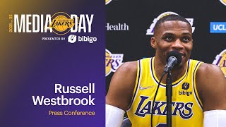 Lakers Media Day: Russell Westbrook Press Conference   Brought to You by bibigo