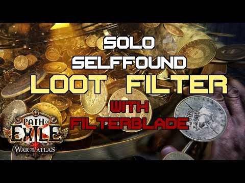 Maintaining a Loot Filter with Filterblade (for Solo Selffound BTW)