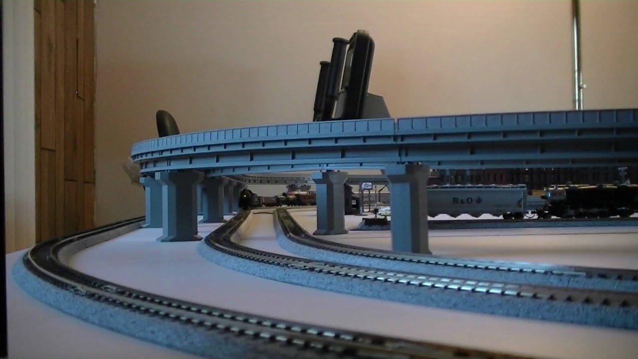 Kato N Scale Unitrack Layout Train Video 2
