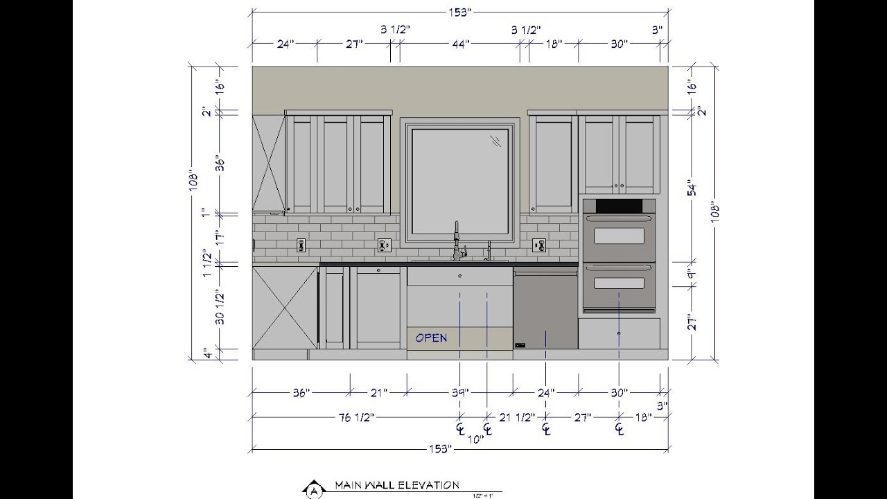 Floor Elevation Technique : Creating a floor plan and main wall elevation for the