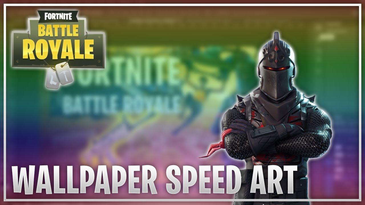 Fortnite Battle Royale Wallpaper Speed Art Youtube