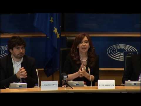 Conferencia de Cristina Kirchner en el Parlamento Europeo #cfkenbruselas