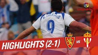 Resumen de Real Zaragoza vs Sporting de Gijón (2-1)