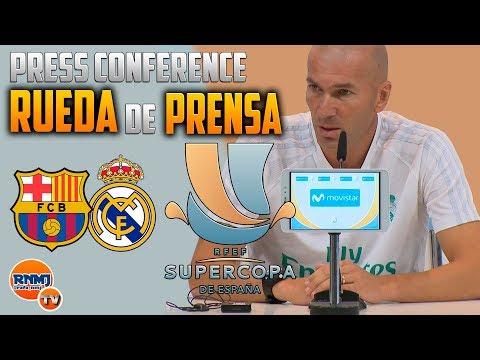 Rueda de prensa ZIDANE previa Barcelona - Real Madrid FINAL SUPERCOPA ESPAÑA 2017