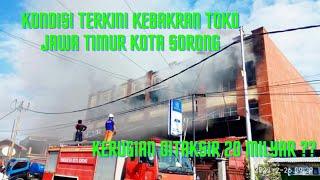 Kondisi Terkini Kebakaran Toko Jawa Timur Di Kota Sorong, Ya Allah Kerugian Ditaksir 20 Milyar