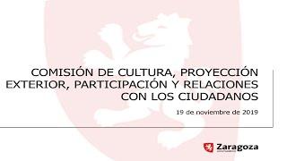 19 de noviembre de 2019. Comisión de Cultura, Proyección Ext,  Participación y RR con Ciudadanos thumbnail