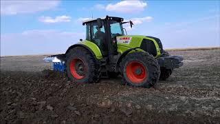 Демонстрация трактора CLAAS AXION 850 с плугом LEMKEN Juwel на Юге Казахстана