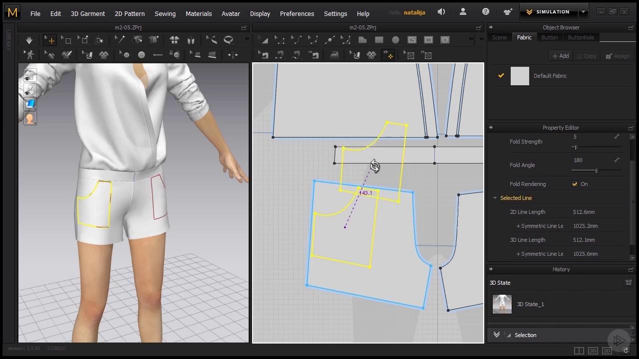 Designer Lines : آموزش مارلوس دیزاینر ساخت جیب با marvelous designer internal lines