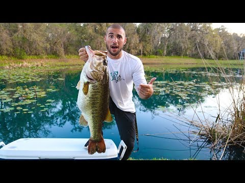 "New 13 Pound PET Bass In POND!!! (biggest bass) ""Jigging with Jordan"""