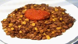 Nigerian Beans and Sweet Corn Porridge (AdaluEwa ati AgbadoAgwa na Oka)