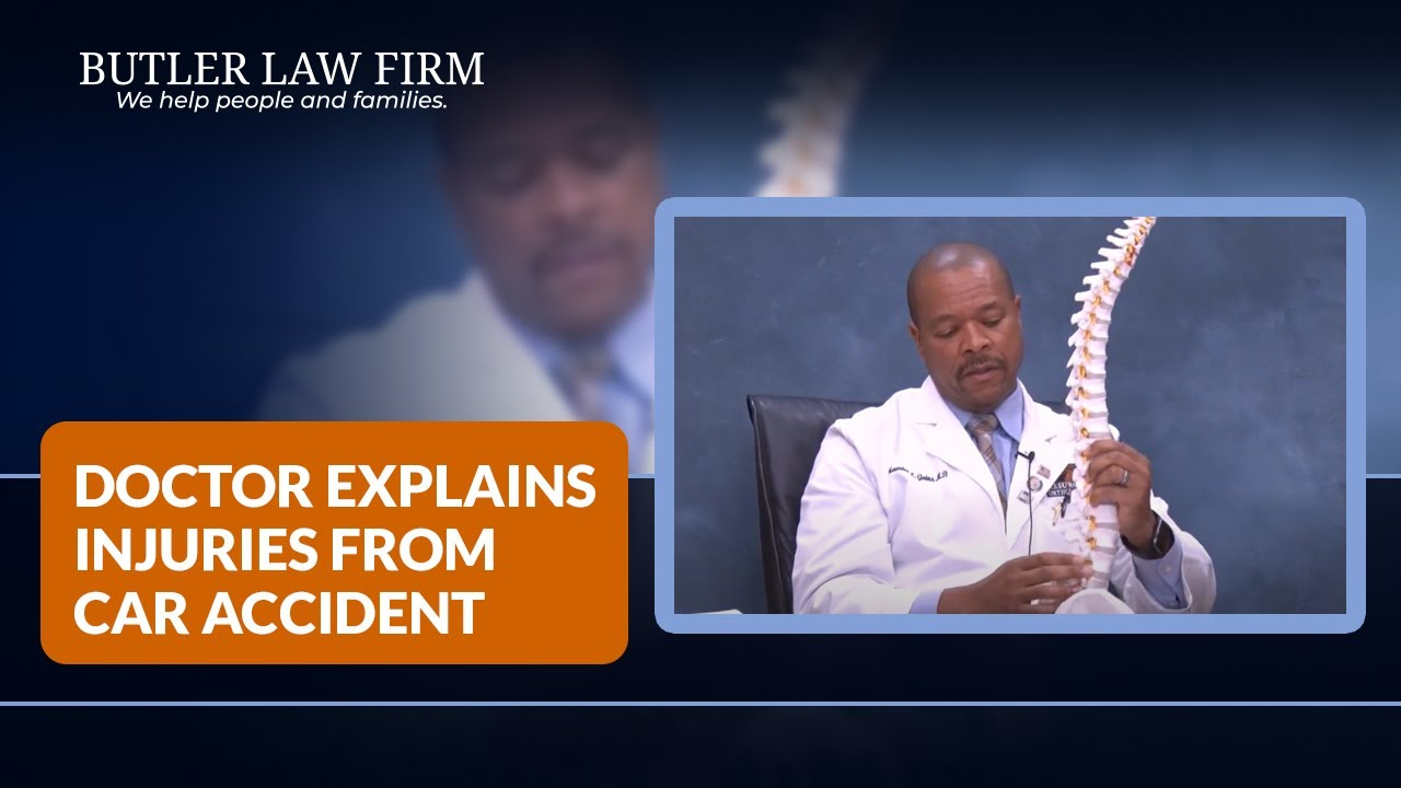 Lower Back Injury Doctor Explains Injuries From Car Accident Youtube