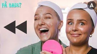 Sminker oss BAKLENGS!? | Hanna-Martine | På Badet med VITA