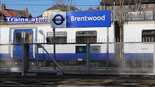 Trains at Brentwood GEML 16-02-16