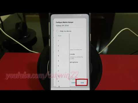 Samsung Galaxy S9 : How to Set Mobile Hotspot Broadcast chan