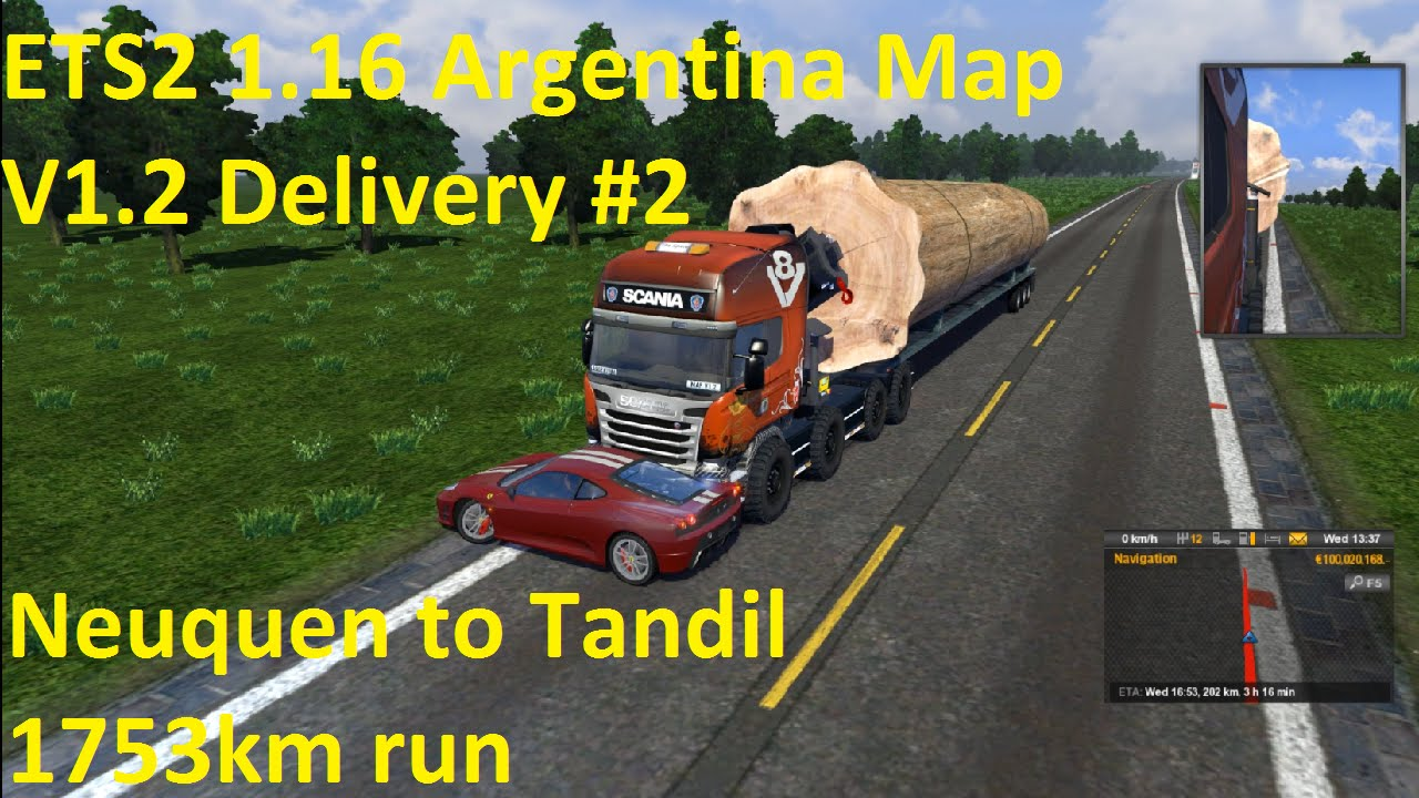 ETS X Argentina Map V Delivery YouTube - Argentina map ets2