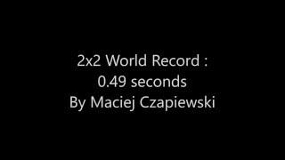 Official 2x2 Rubik's Cube 0.49 WORLD RECORD SINGLE by Maciej Czapiewski