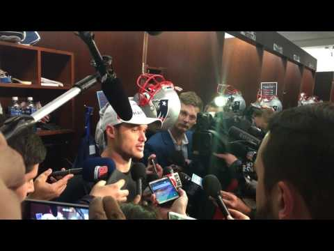 Patriots' Chris Hogan, a former Penn State lacrosse player, discusses record-breaking peformance ...
