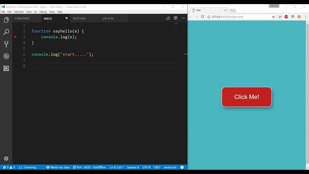 Live Server integration with Chrome Debugger | Vscode Extension | Quick  Demo 2