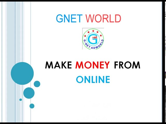 Gnet world Best Side Business Per day 450 Income ,gnet,