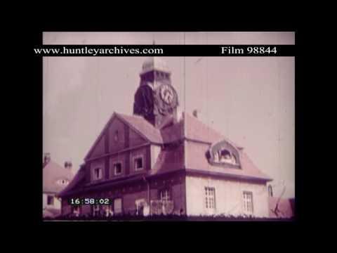 Bad Nauheim. Spa town in Germany, 1930's.  Archive film 98844