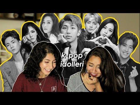 🎤K-pop İdollerinin İngilizceleri  Tepki