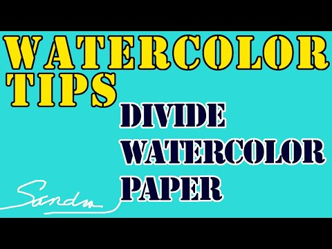 """How to """"Cut"""" Watercolor Paper - Tear Your Paper for Soft Rag Edges - Tip - No Scissors"""