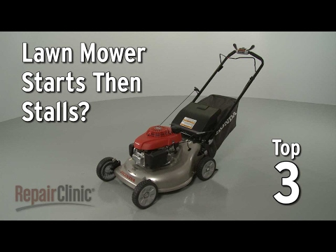 "Thumbnail for video ""Lawn Mower Starts Then Stalls? Lawn Mower Troubleshooting"""