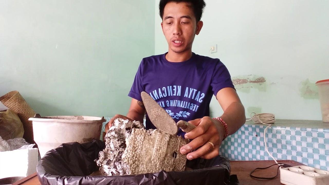 Cara Mudah Membuat Tiruan Batu Karang Dari Sterofoam Youtube