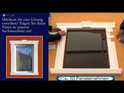fensterumrandung mit styropor stuckleisten und fassadenprofilen deko ideen f r die. Black Bedroom Furniture Sets. Home Design Ideas